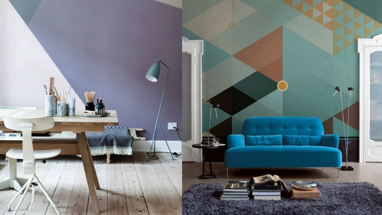Geometric Patterns in a living room and office space