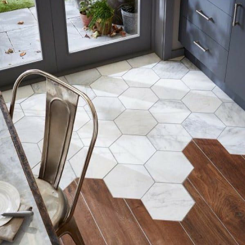 Geometric Patterns floor tiles for the kitchen