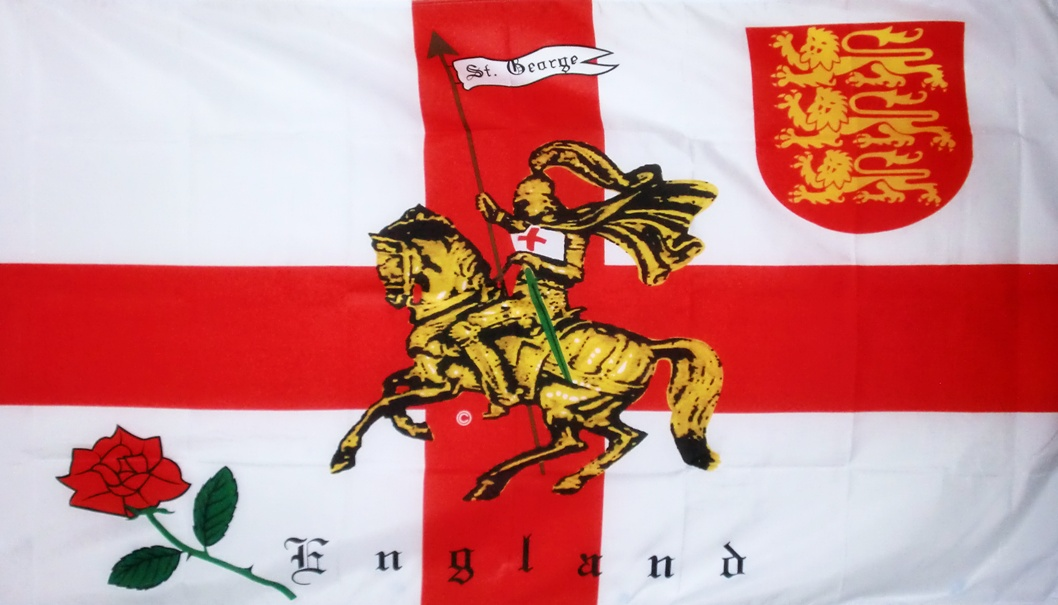 St. George's Day England flag with St George on it