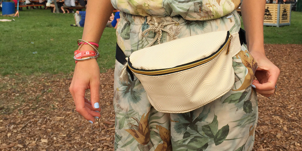 festival essentials bum bag