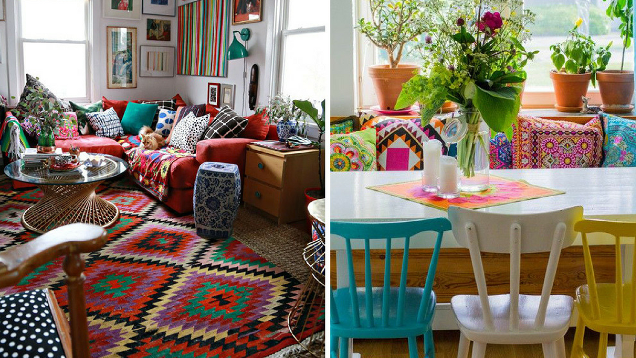 Colourful Decor Layering Colour Within The Home
