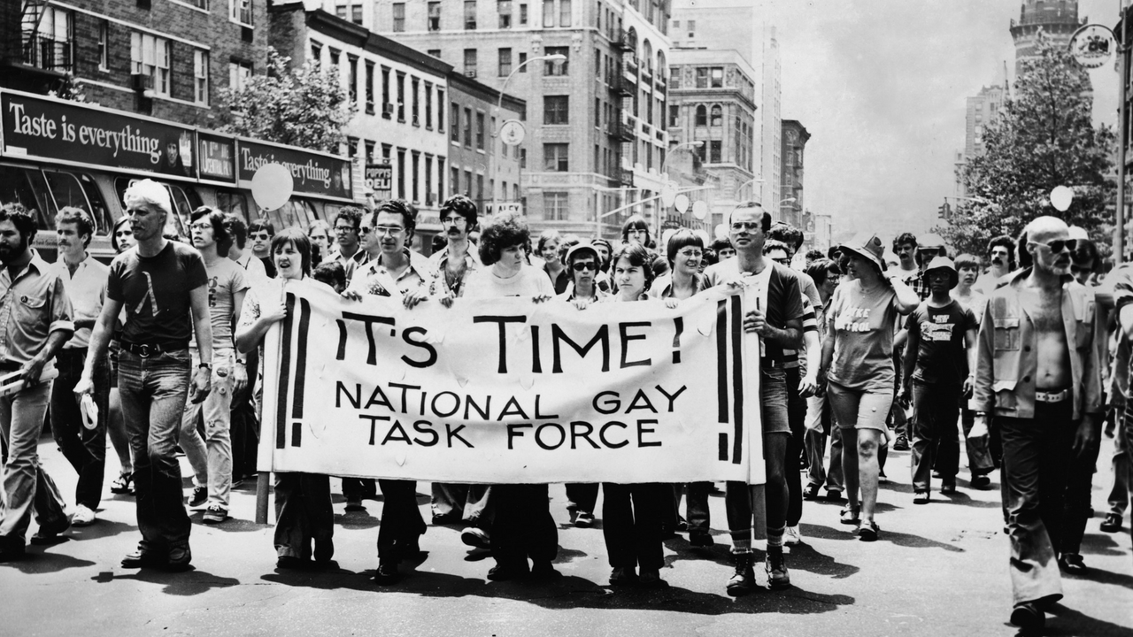 Colourful Decor Marching For Gay Rights In 1969