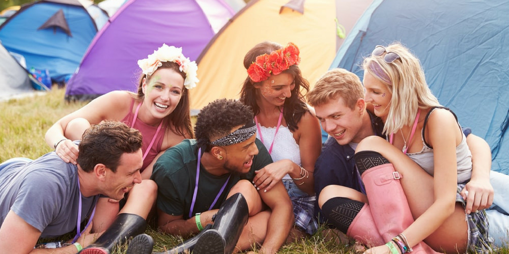 festival essentials friends relaxing