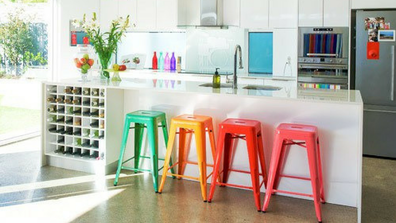 Colourful Decor Dining Room Stools