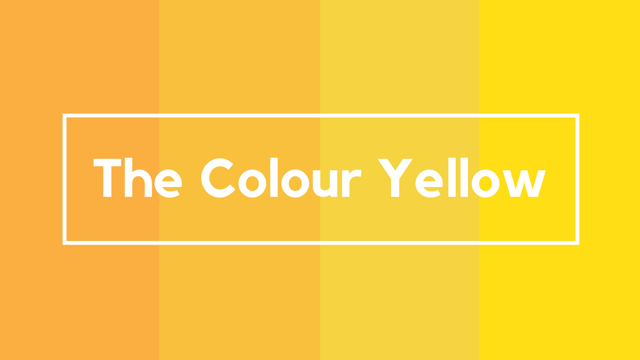 Various shades of yellow in an image