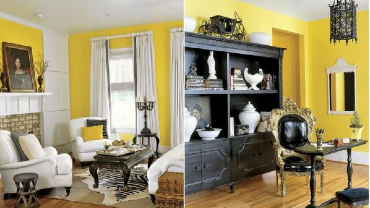 Yellow and black in a room