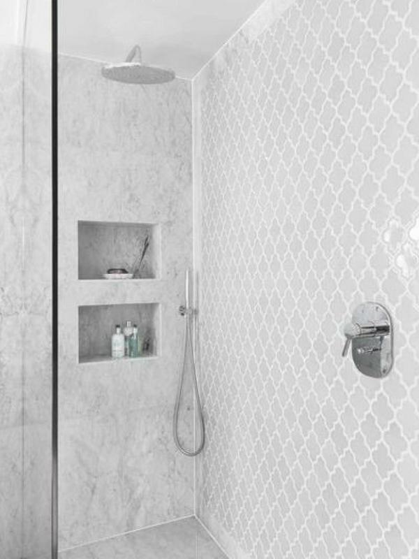 Moroccan Interiors Arabesque Shower Wallpaper