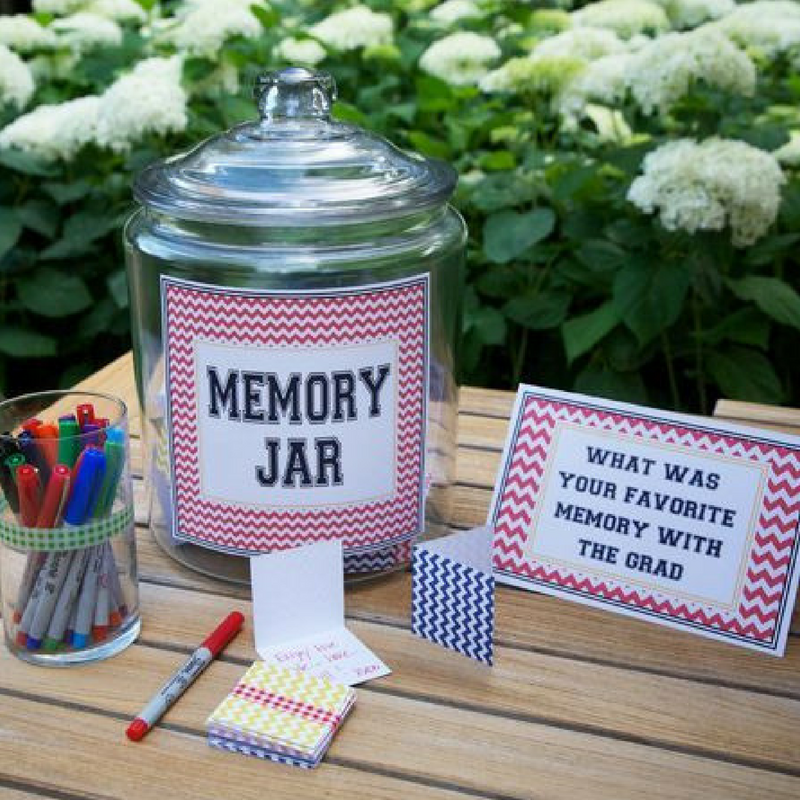 Graduation Memory Jar with Thoughtful Messages Inside