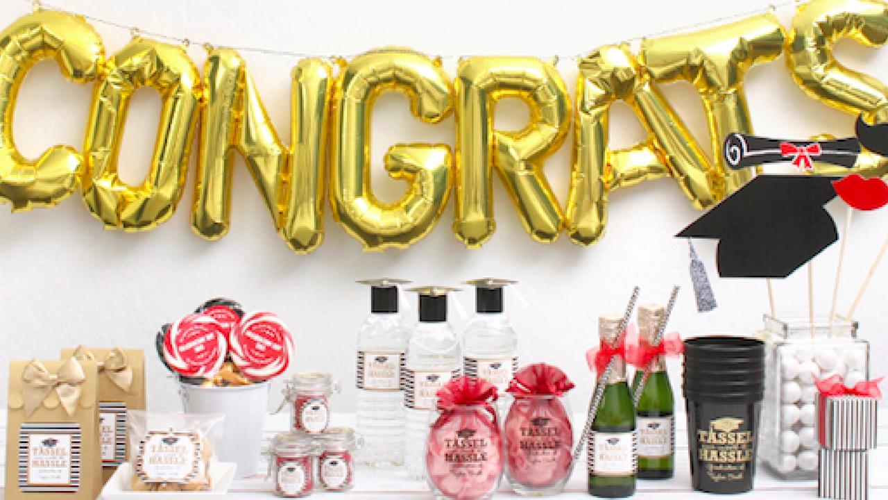 Graduation Congrats Balloons and Decorations