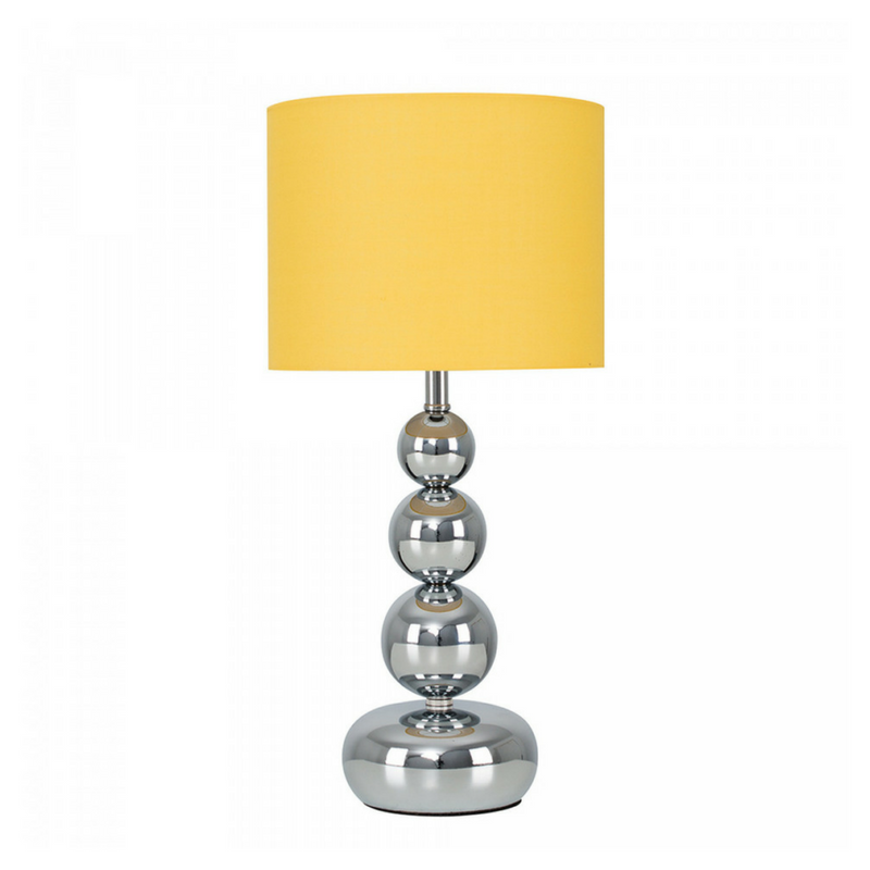 Yellow Accessories Silver and Yellow Small Table Lamp