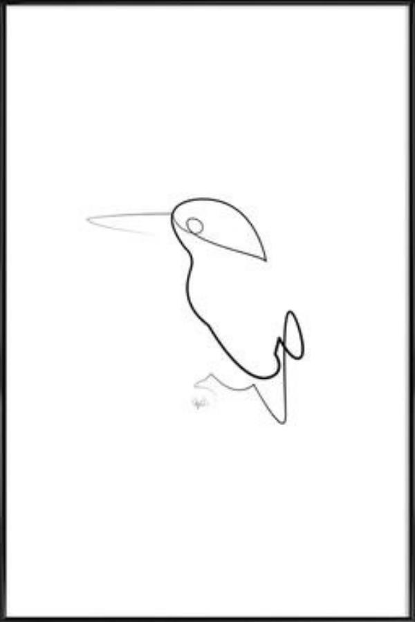 Interior Design Trends line art shaped like a bird