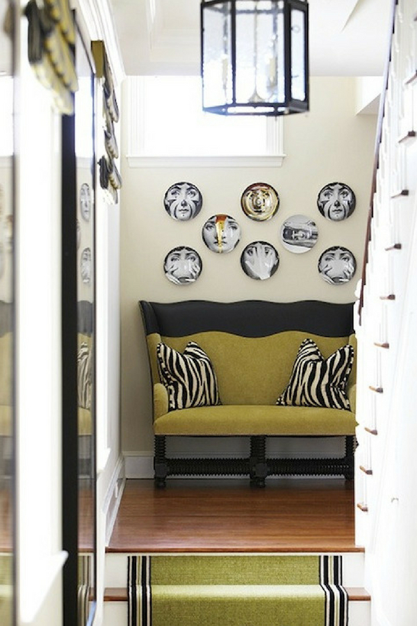 Interior Design Trends decorative plates hung on the wall