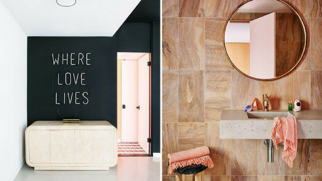 Interior Design Trends collage of two trend images