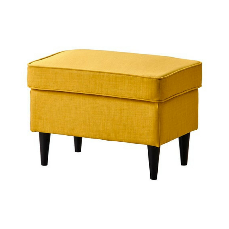 Yellow Accessories Yellow Plain Ottoman Foot Stool