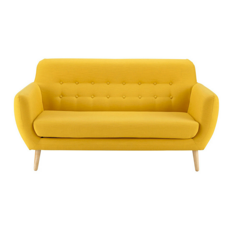 Yellow Accessories Comfy and Plush Yellow Sofa
