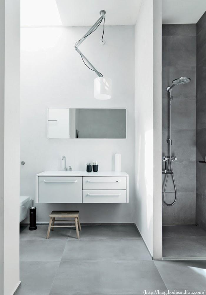 Interior Design Trends concrete modern bathroom