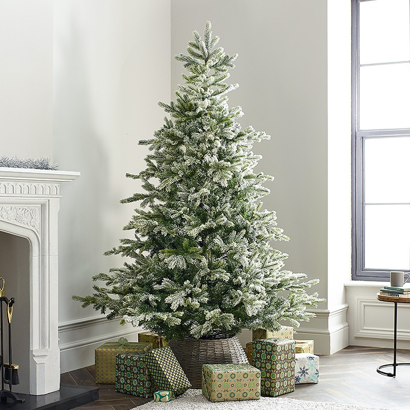 Bold Christmas Tree in a large living room