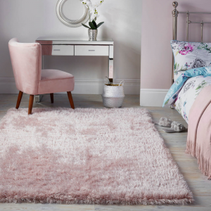 Valentine's Day   Dazzle Rugs in Blush Pink by The Rug Seller
