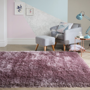 Valentine's Day   Pearl Rugs in Mauve by The Rug Seller