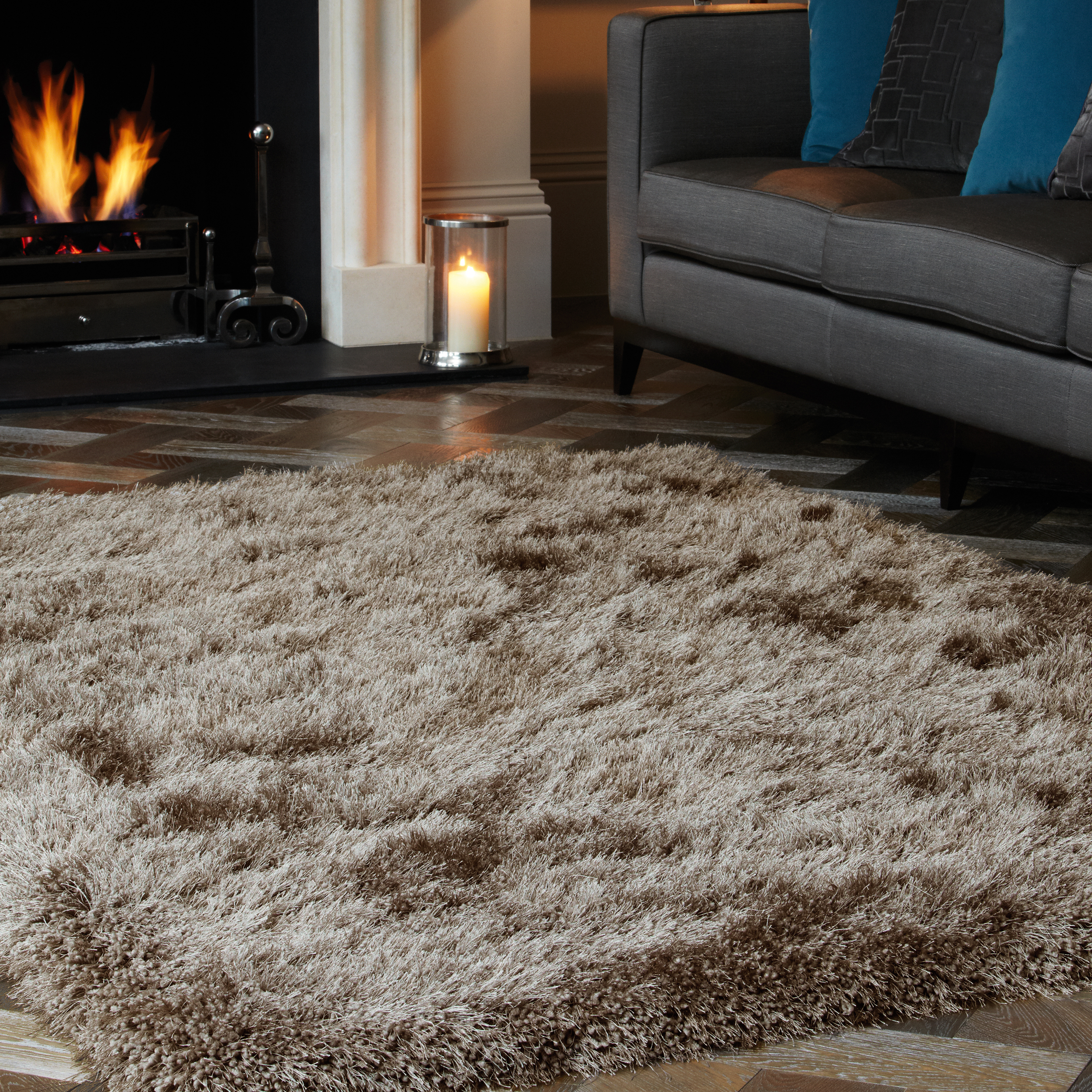 Cascade Shaggy Rugs With Luxurious Soft Textures