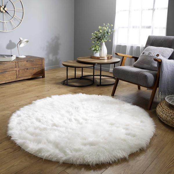 Faux Fur Sheepskin Circle