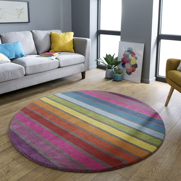 Illusion Circle Rugs