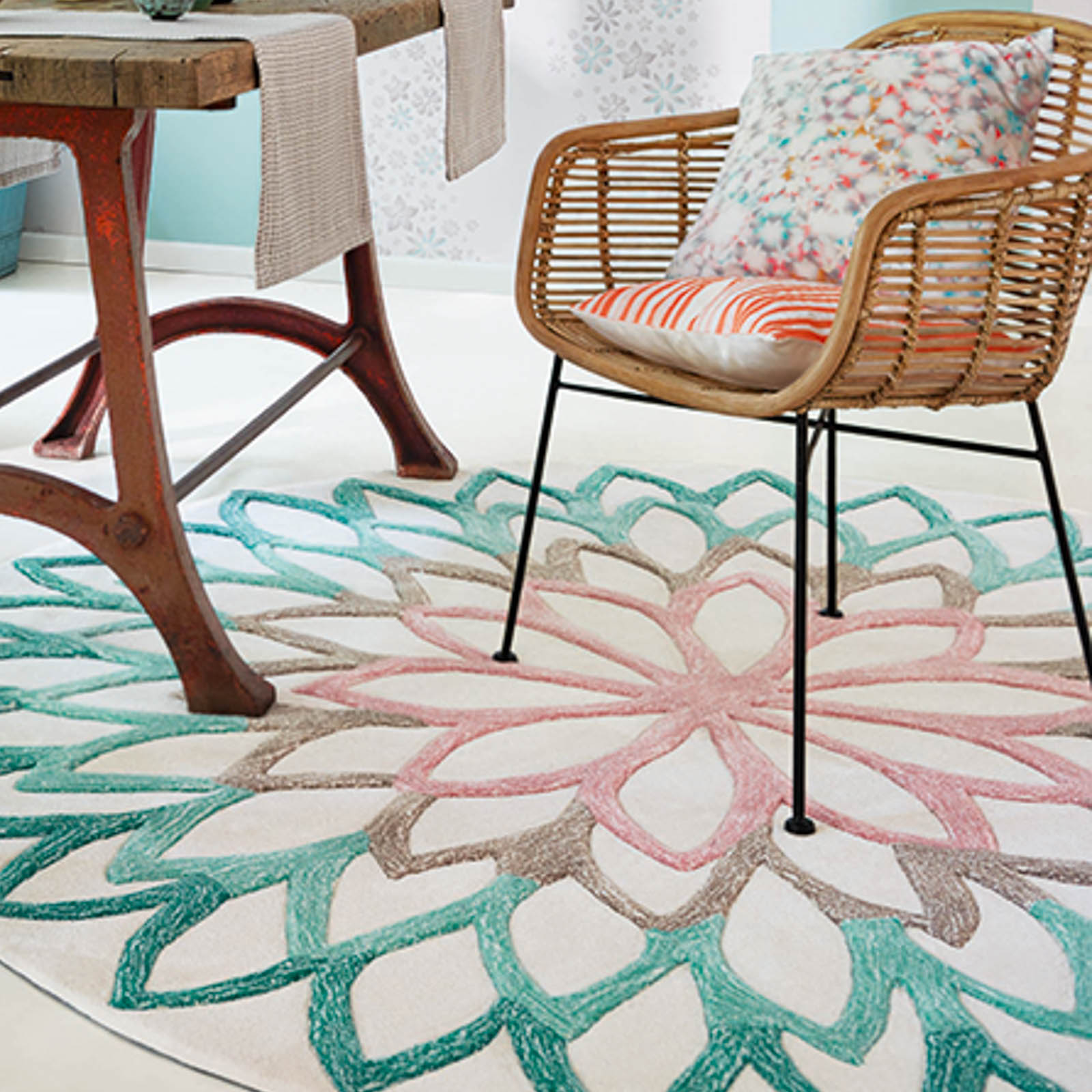 Lotus Flower Circular Rugs With Free Uk Delivery From The
