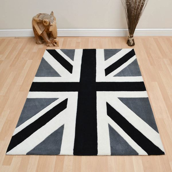 Union Jack Tufted Wool Rugs