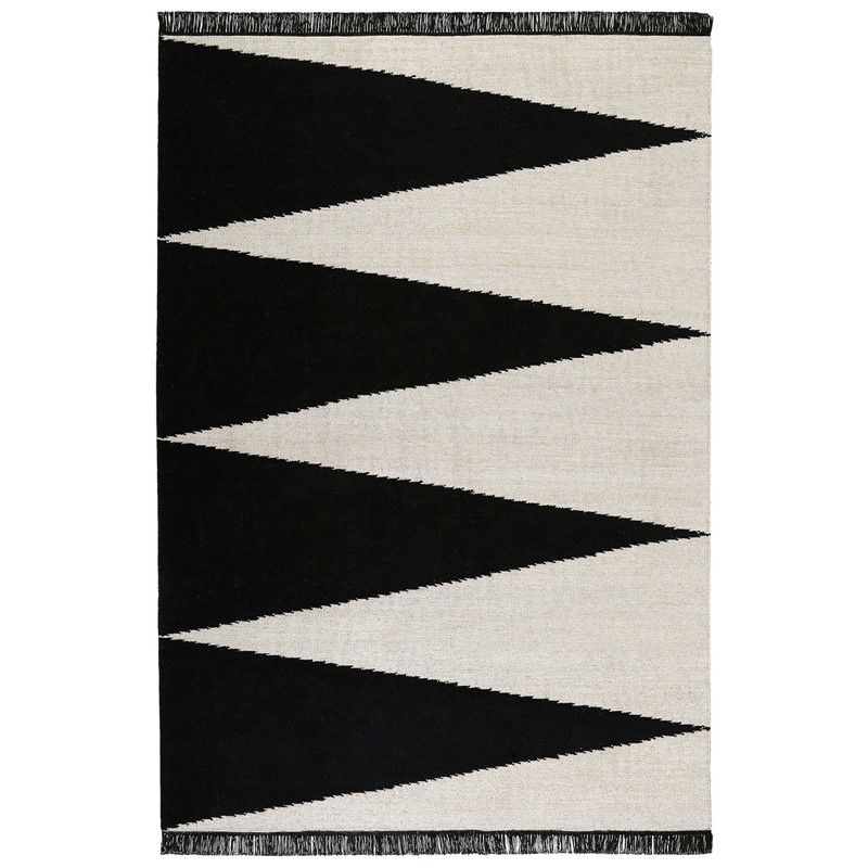 Purple Triangle Rug: Smart Triangle Rugs 0002 01 By Carpets & Co In Black And