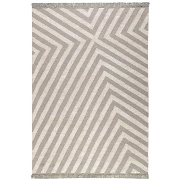 Edgy Corners Rugs 0011 02 by Carpets & Co in Grey and Beige