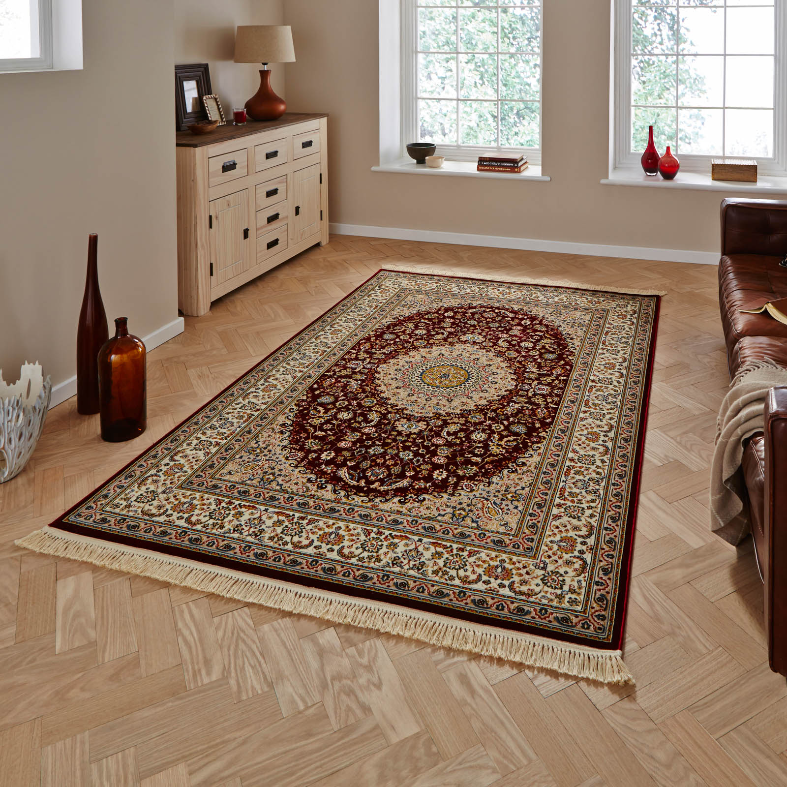Heritage 0227A Rugs in Red