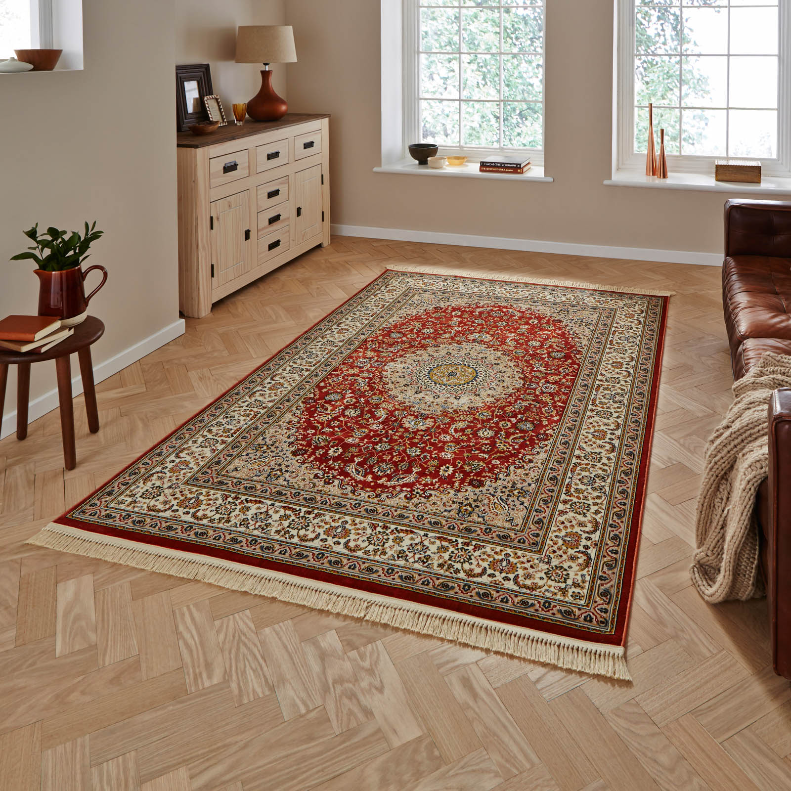 Heritage 0227A Rugs in Terracotta