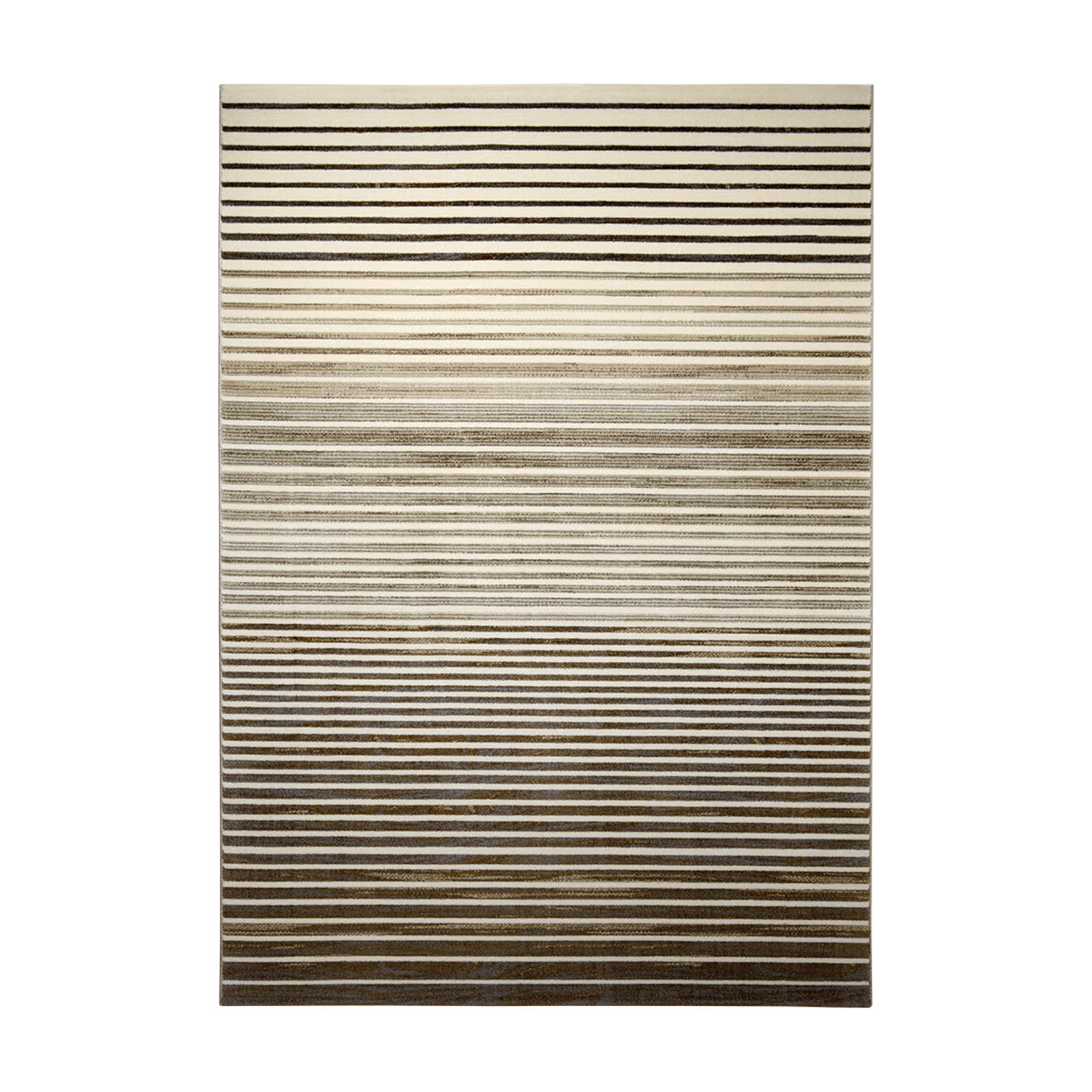Nifty Stripes Rugs 0730 01 in Brown and Beige by Esprit