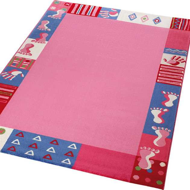 Weconhome Roundly Hands & Feet Rugs 0760 01 in Pink