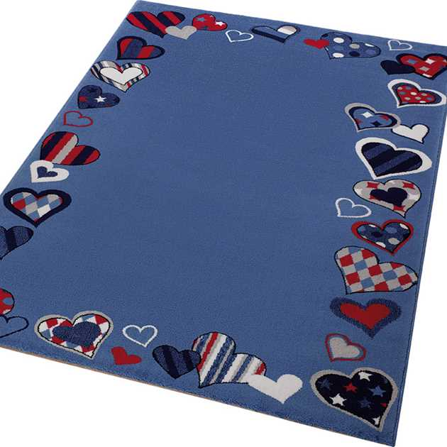 Weconhome Just Hearts Rugs 0766 04 in Blue