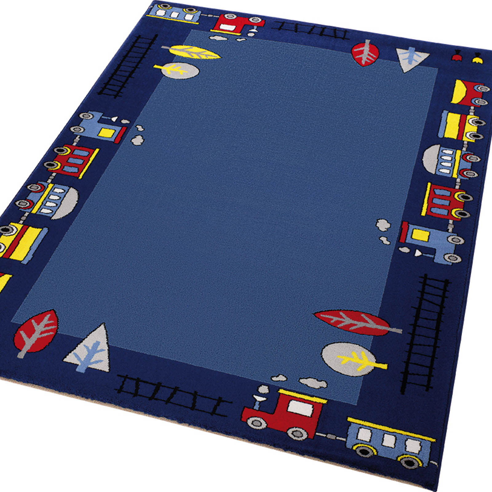 Weconhome Funny Train Rugs 0767 01 in Blue