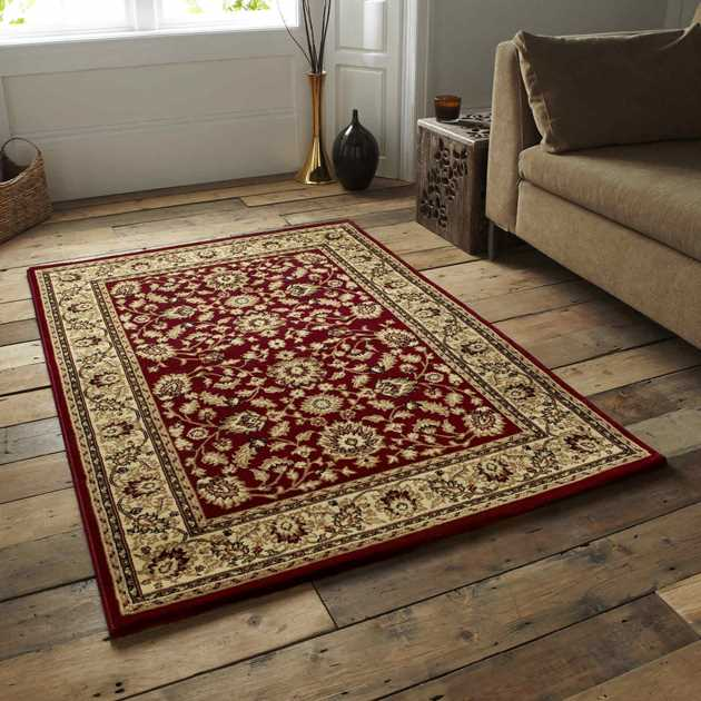 Heritage Traditional Rugs 0993A Red