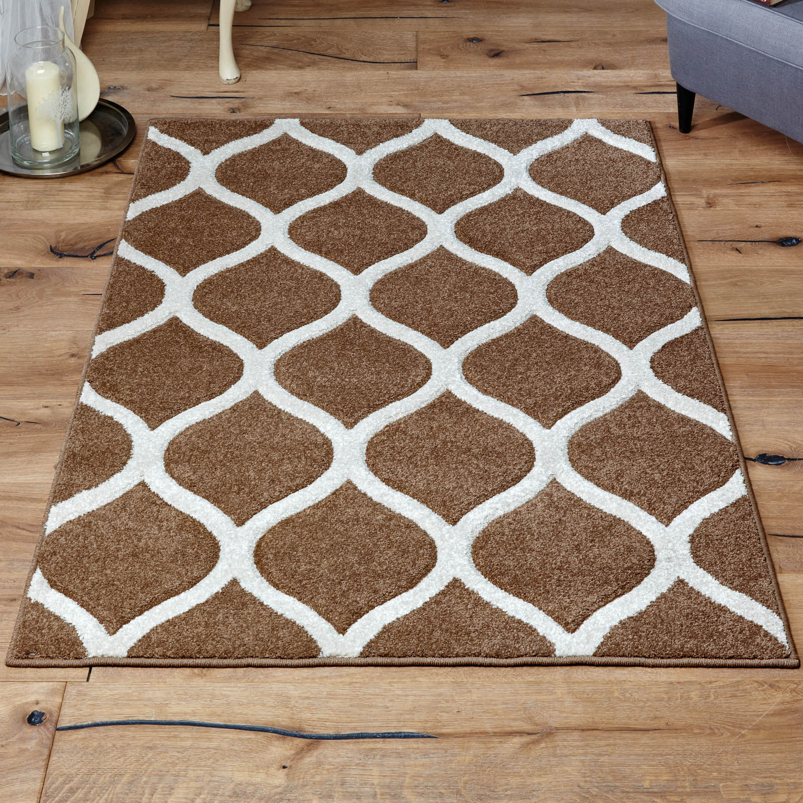 Viva Rugs 1095 J in Beige and Ivory
