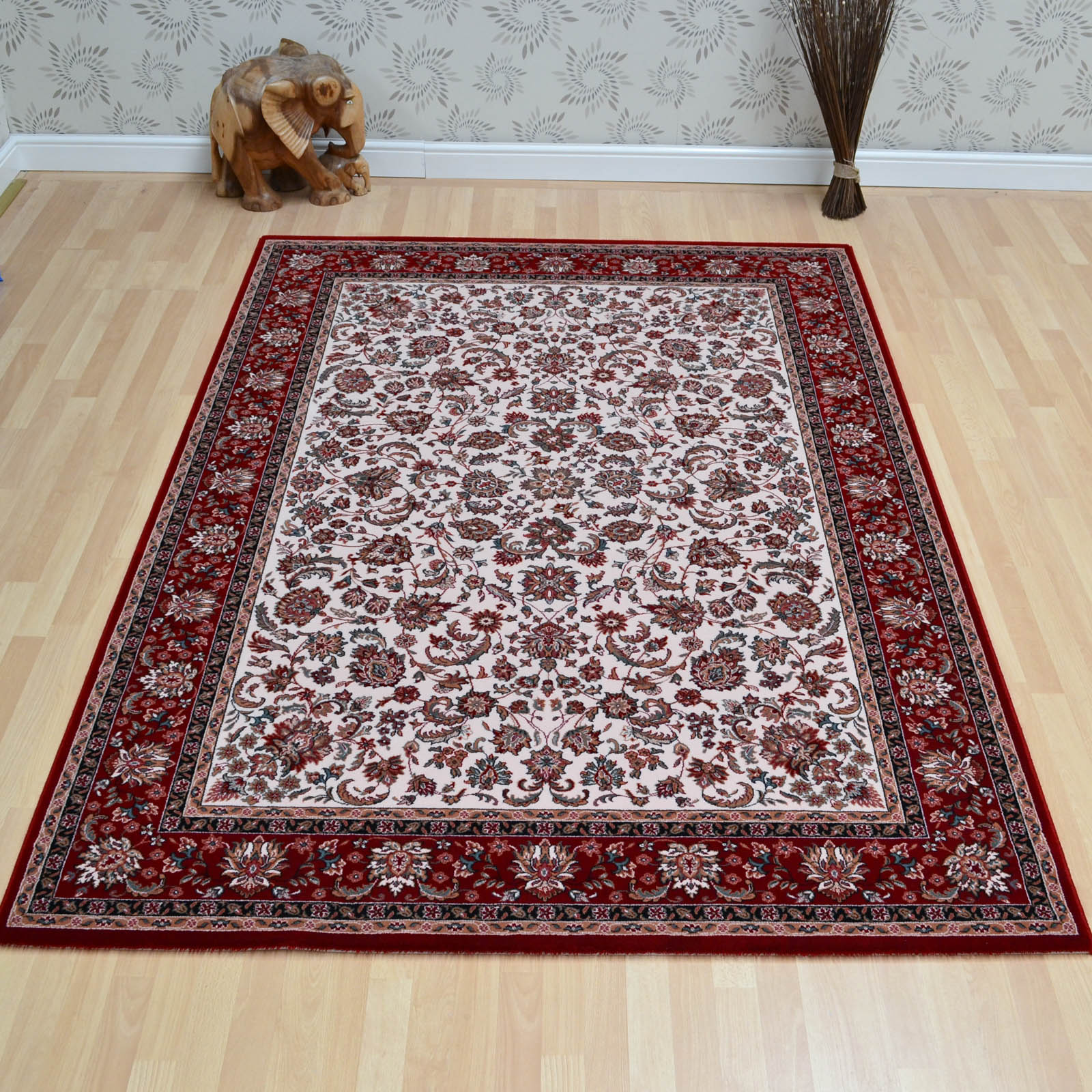 Nain Rugs 1276 680 Beige Red
