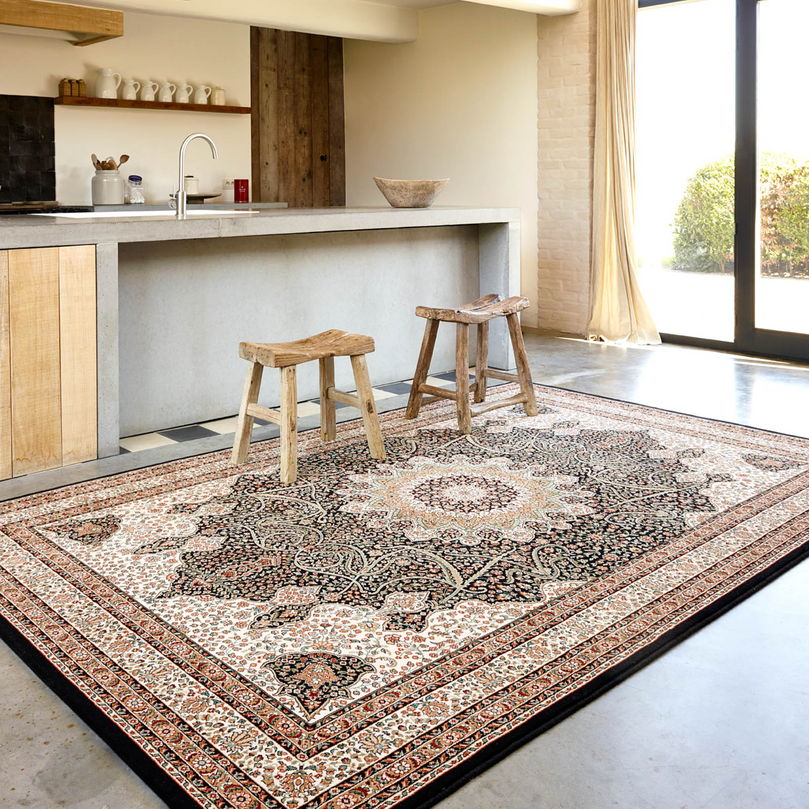 Nain Rugs 1285 678 in Navy by Lano