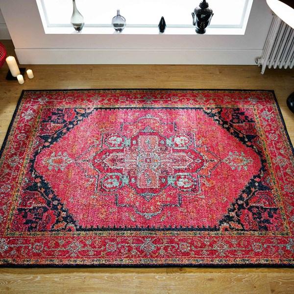 Rug Kaleidoscope Runner: Kaleidoscope Rugs 1332 S Pink