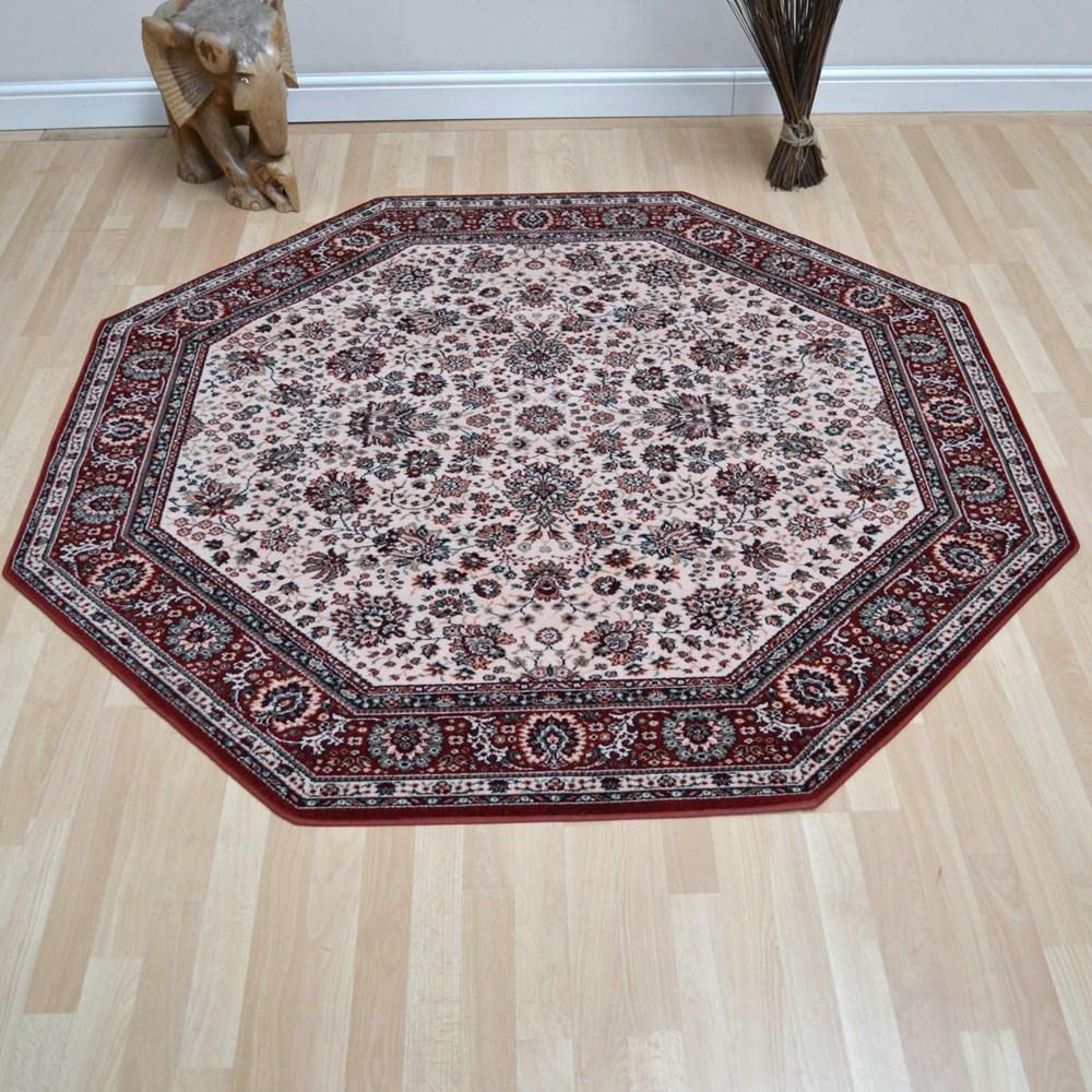 Lano Royal Octagonal Rugs 1516 505 Beige Red Buy Online