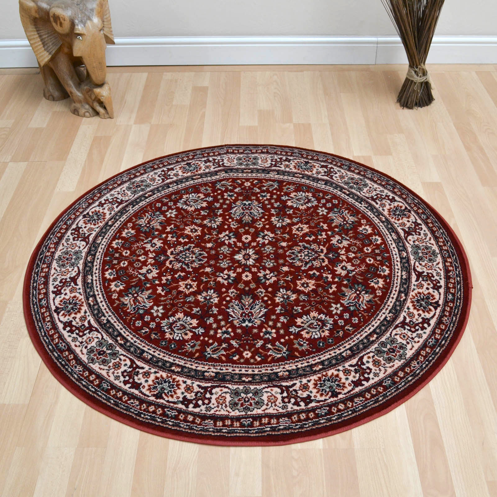 Lano Royal Circular Rugs 1570 507 Red