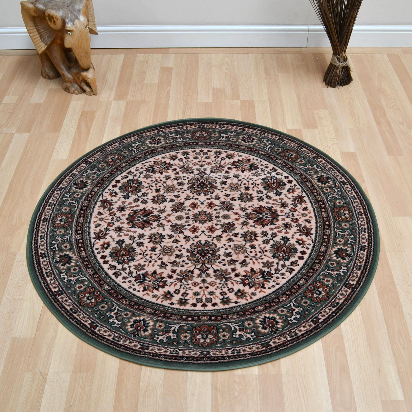 Lano Royal Circular Rugs 1570 508 Beige Green