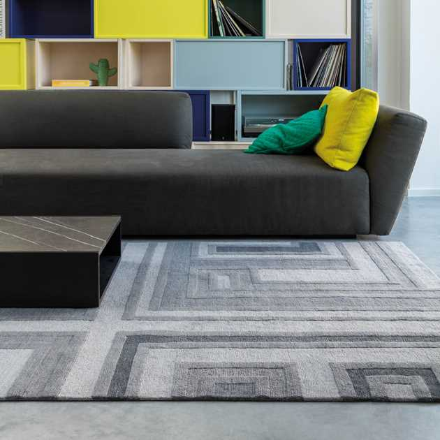 Colors Love Rugs 184 001 900 in Grey by Ligne Pure