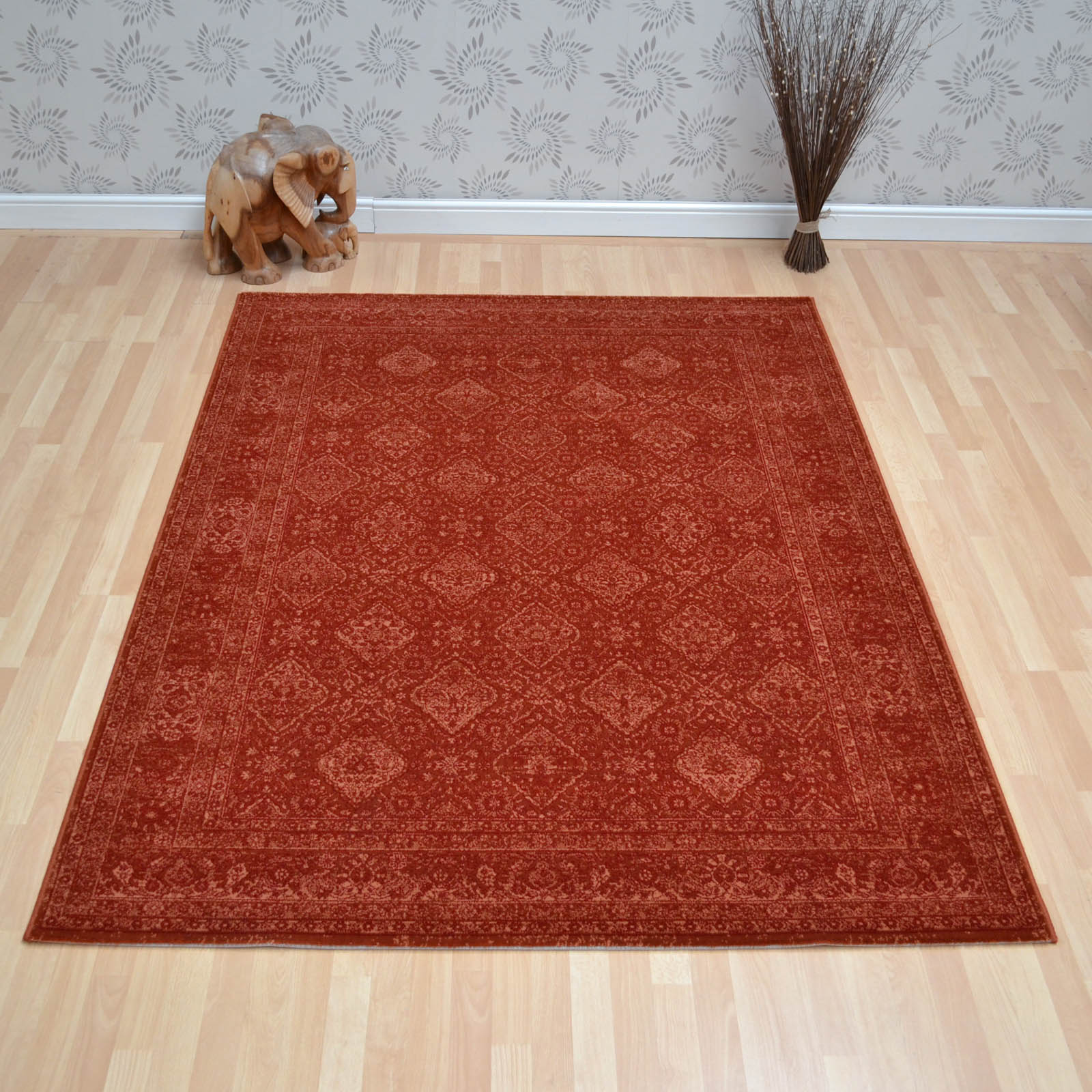Lano Imperial Rugs 1951 672 in Terracotta