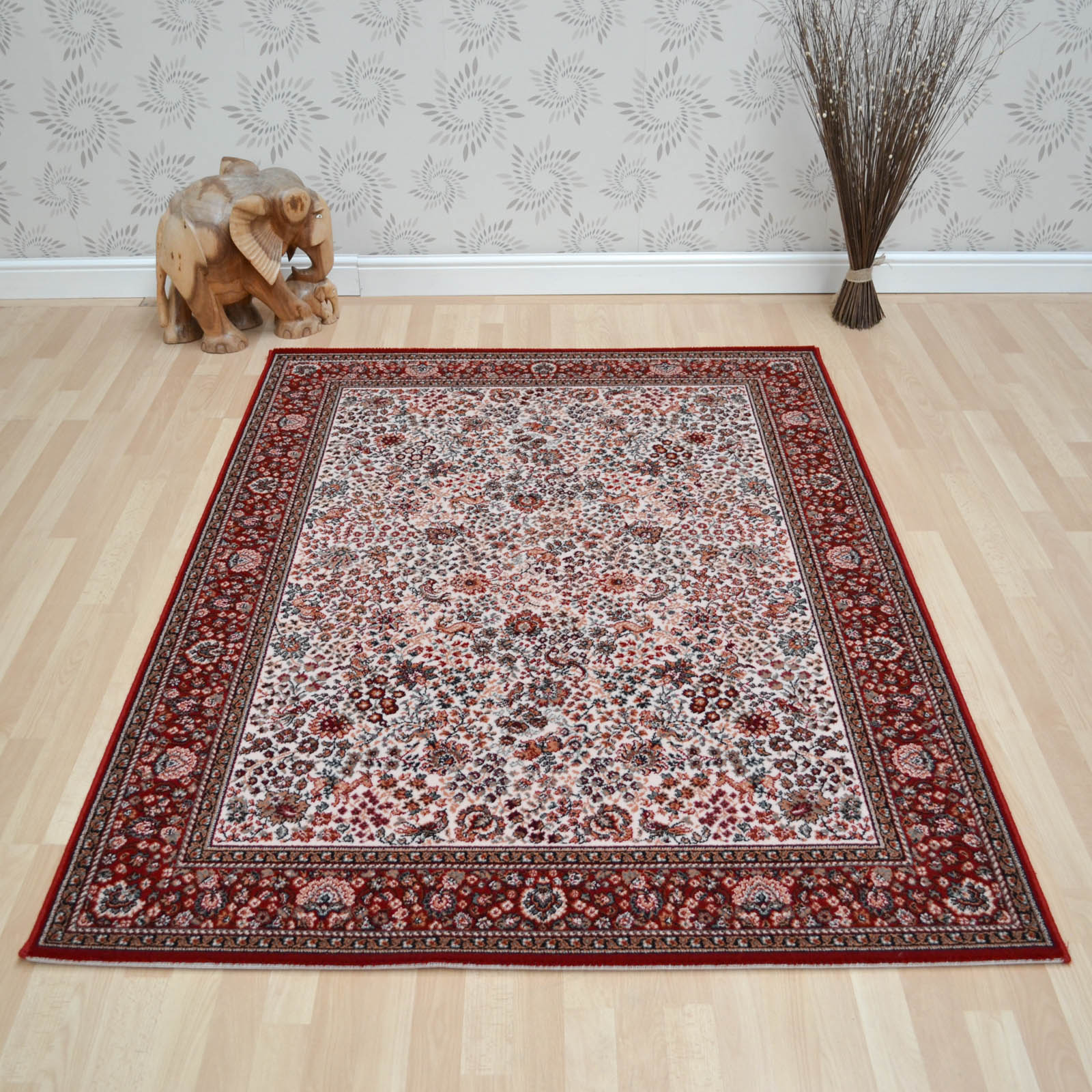 Lano Imperial Rugs 1959 680 Beige Red
