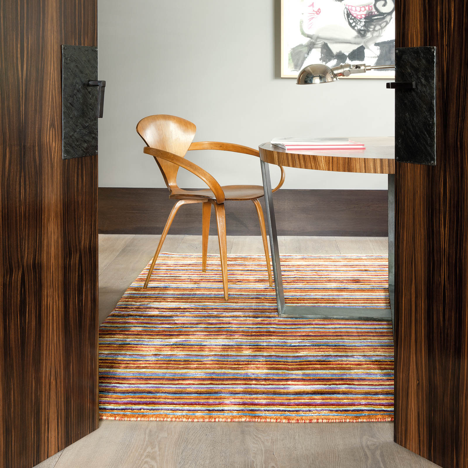 Colors Love Striped Rugs 202 001 990 by Ligne Pure