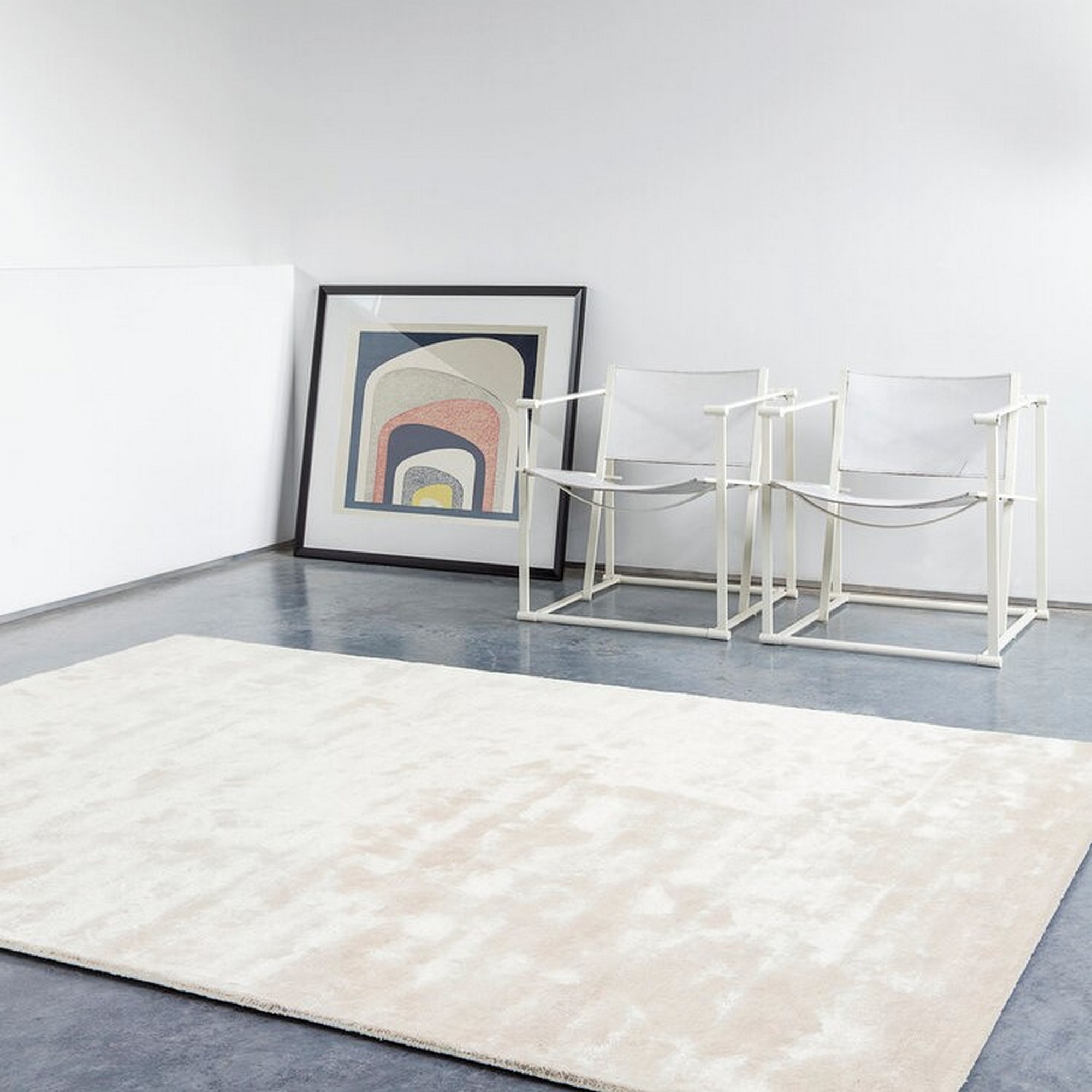 Uni Reflect Rugs 203 001 100 in Ivory by Ligne Pure