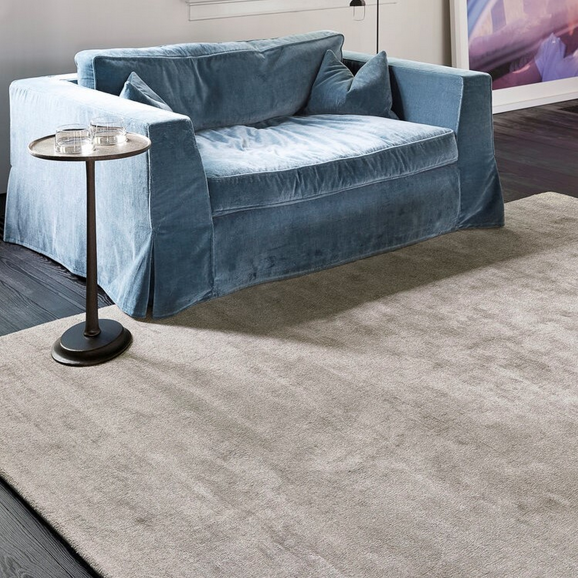 uni reflect rugs    in taupe by ligne pure  free uk  - uni reflect rugs    in taupe by ligne pure